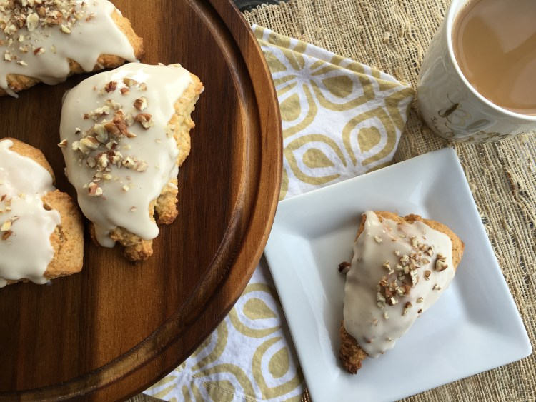 Baked Maple Pecan Scones - Cooking Up Happiness