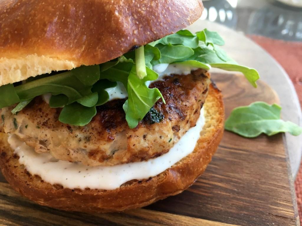 garlic and herb chicken burger