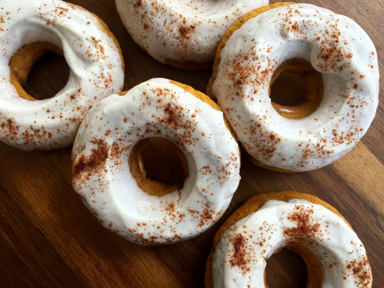Baked Pumpkin Spice Donuts - Cooking Up Happiness