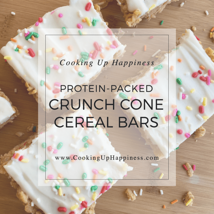 Protein Crunch Cone Cereal Bars - Cooking Up Happiness