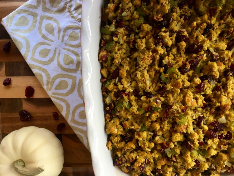 Holiday Cornbread Stuffing - Cooking Up Happiness