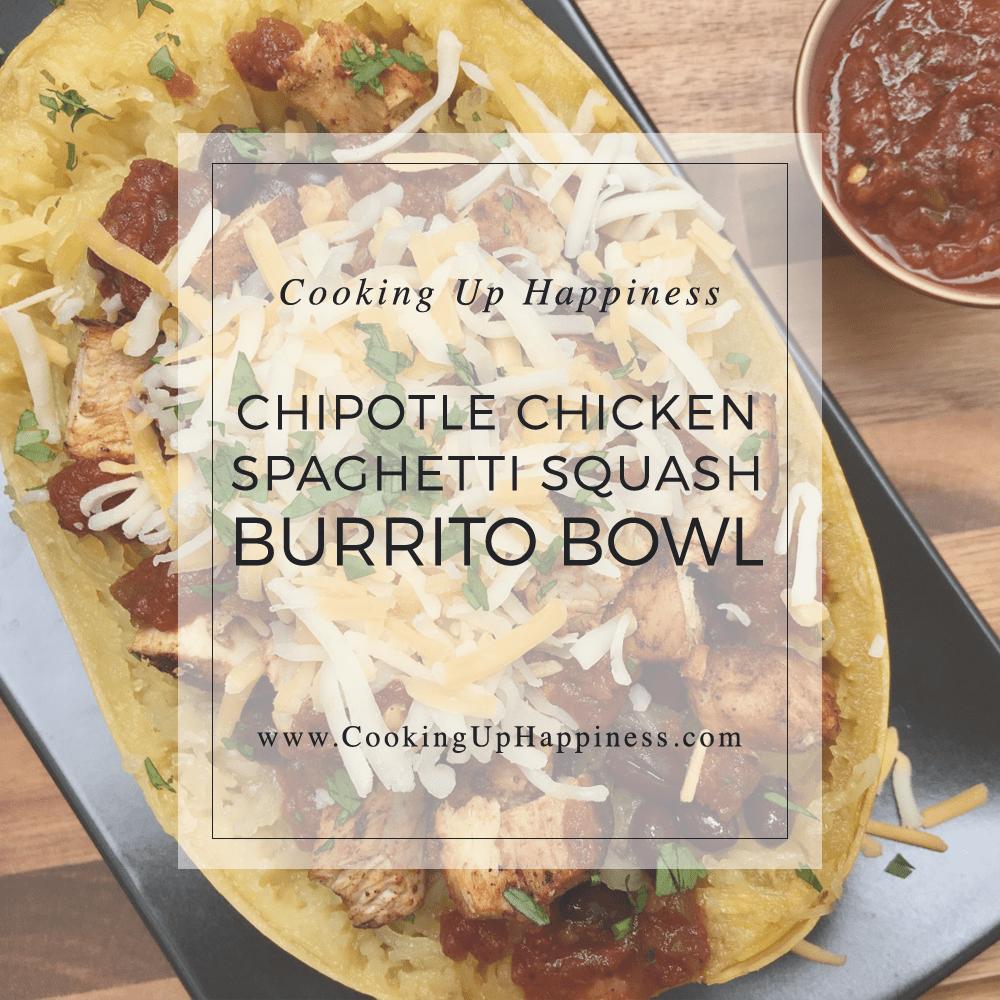 Chipotle Chicken Spaghetti Squash Burrito Bowl