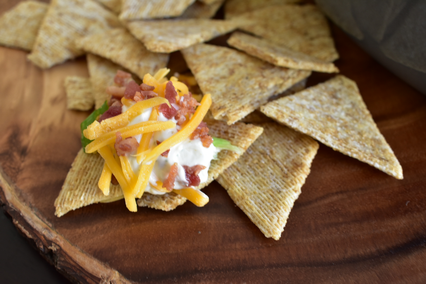 Light Bacon Ranch Dip - A Healthy Recipe From Cooking Up Happiness