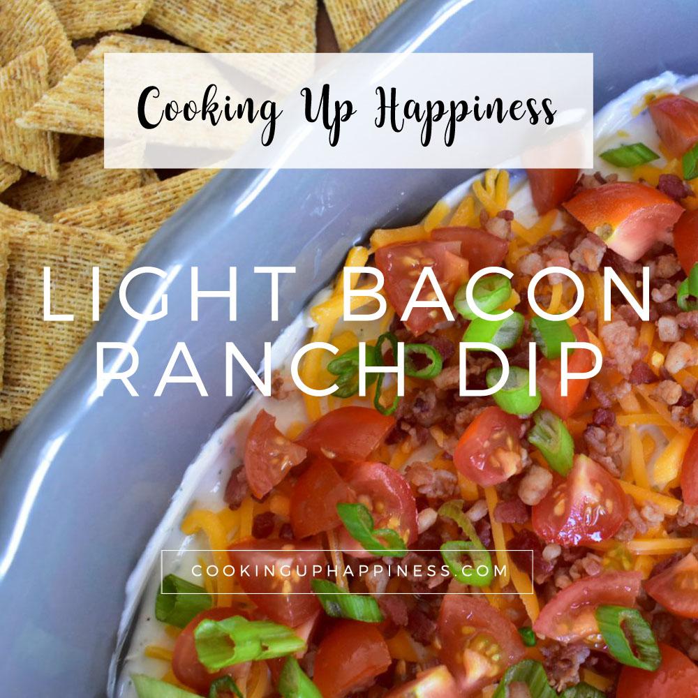 Healthy Light Bacon Ranch Dip