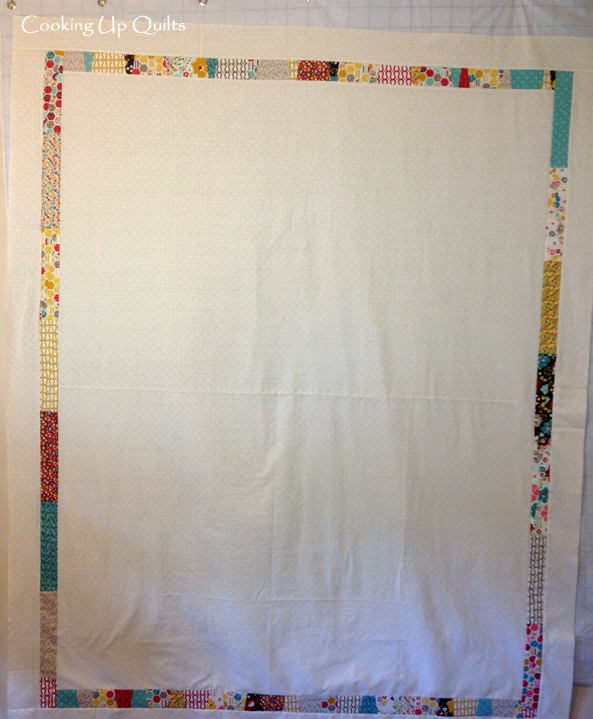Pieced border dresden quilt