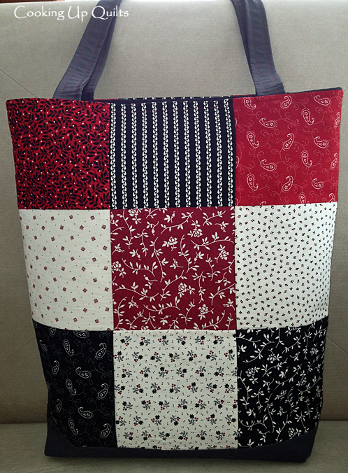 9 Patch Tote Bag with Zipper