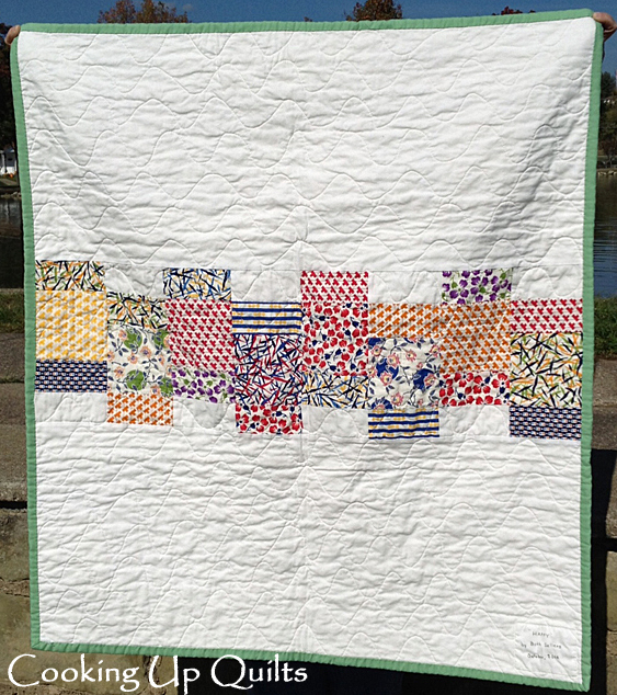 Happy Quilt Back