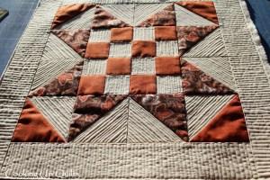 Checker Star Mini Quilt Texture