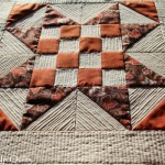 Checker Star Mini Quilt Texture