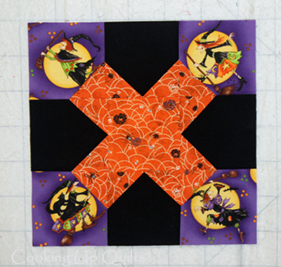 Bee Block Halloween X Quilt