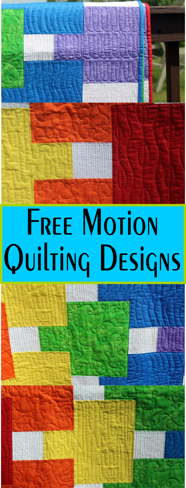 7 Free Motion Quilt Designs - Post Shows Detail Pics