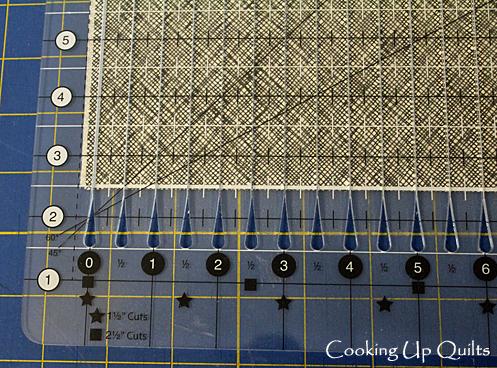 Stripology Ruler ready to cut binding