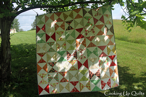Hourglass quilt front