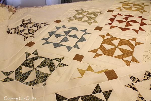 Twirl Pattern Quilt Top