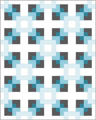 Sketch for FLoating Quilt Pattern