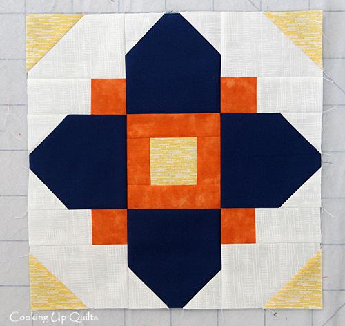 Quatrefoil Block Kona solid Prussian Blue