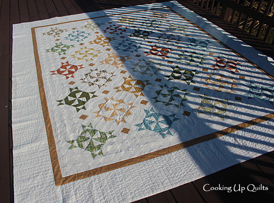 Twirl quilt Machine Quilting