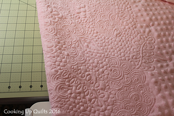 Wholecloth Quilt Minky Back Quilting Texture