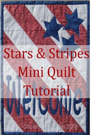 Stars & Stripes Mini Quilt Tutorial