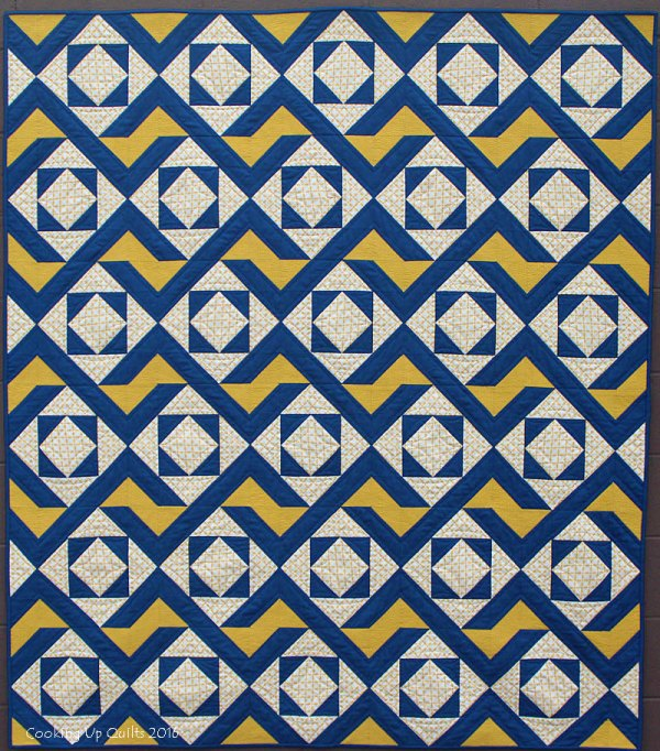 Blue & Mustard Version of Oomph Pattern