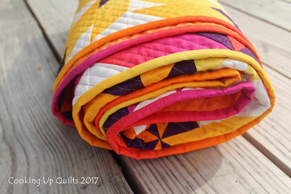 Ombre fabric binding