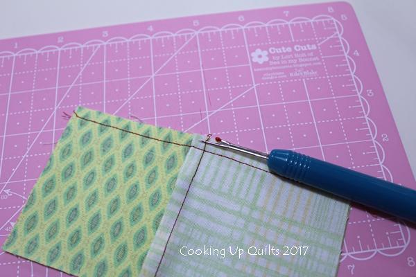 Spinning Seam Unpicking Stitches