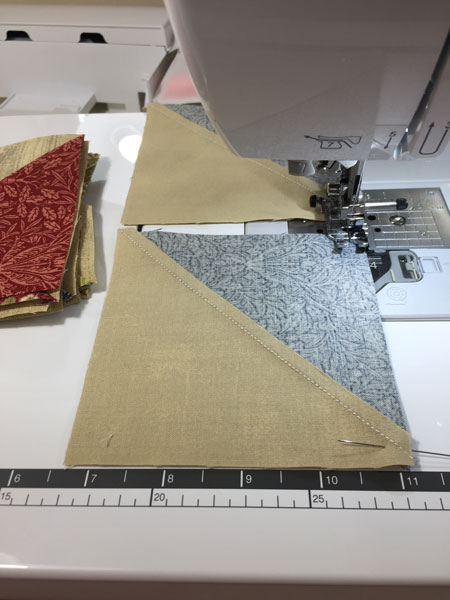 Sewing HST blocks