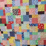 Disappearing Nine Patch quilt by Beth Sellers of Cooking Up Quilts