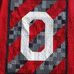 Team Spirit OSU quilt by Beth Sellers of Cooking Up Quilts