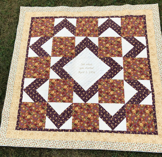 Melanies brown/plum quilt