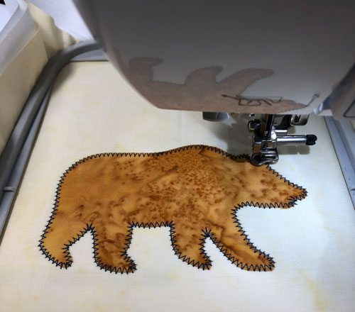Tackdown Stitch - This bear isn't going anywhere!