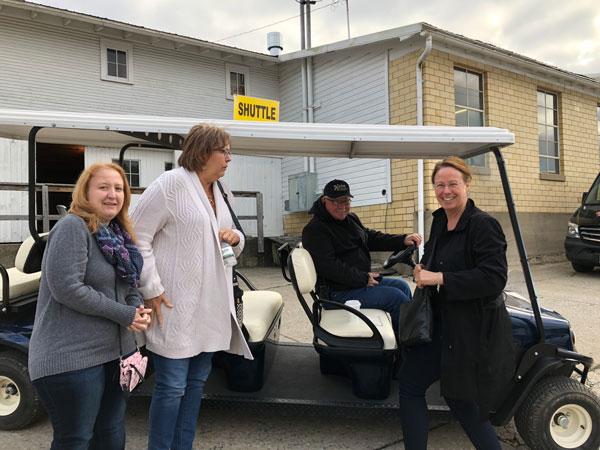 Tish, Sarah, Our Driver, Julie