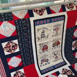 Quilt of Valor quilted by Beth Sellers of Cooking Up Quilts