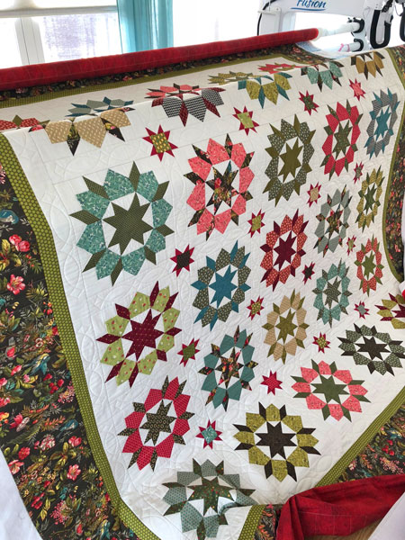 Star of the West Quilt quilted by Beth Sellers of Cooking Up Quilts