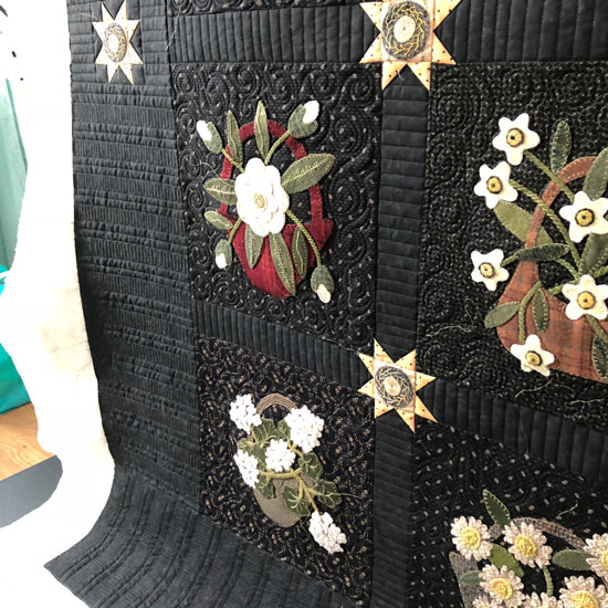 Piano key quilting detail by Beth Sellers of Cooking UP Quilts