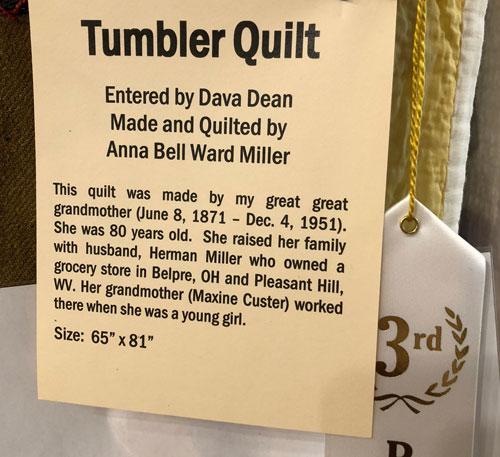 Dava's Tumbler quilt