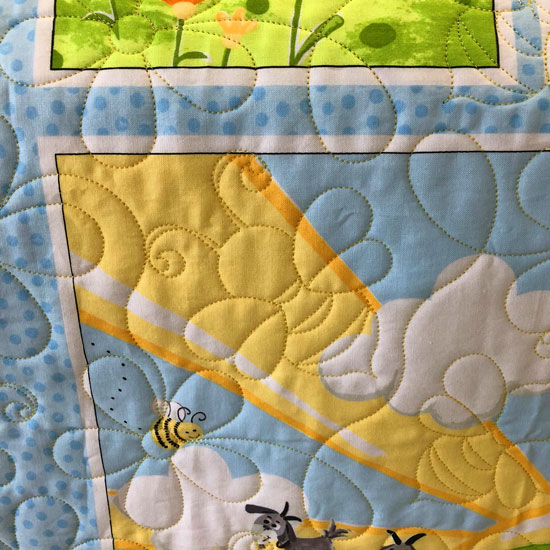 Panel quilted by Beth Sellers of Cooking Up Quilts