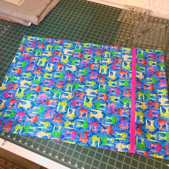 15 minute pillowcase made by Beth Sellers of Cooking Up Quilts