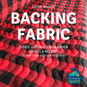 How much backing fabric do you really need?