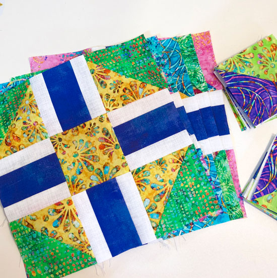 Razzle Berry scrappy blocks by Beth Sellers of Cooking Up Quilts