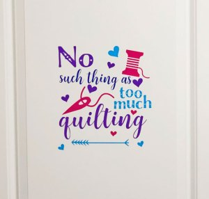 Quilting sticker made with my Cricut Maker