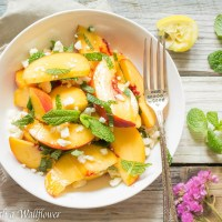 Peach Mint Salad