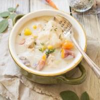Leftover Turkey and Dumpling Soup