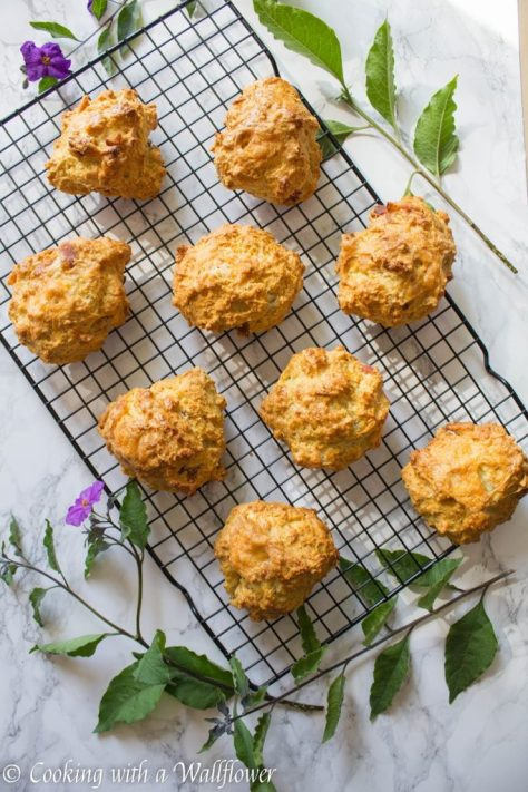 Bacon Cheddar Biscuits   Cooking with a Wallflower