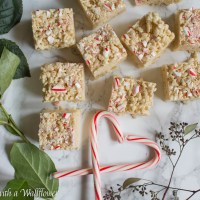 Peppermint Rice Crispy Treats