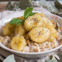 Caramelized Banana Almond Oatmeal