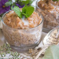 Earl Grey Rice Pudding