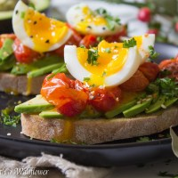 Roasted Tomato Jammy Egg Avocado Toast