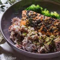 Baked Salmon Teriyaki with Vegetables