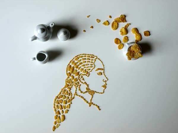 This cereal art is just another avenue that she can conquer.